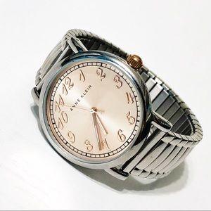 Anne Klein | Rose Gold & Silver Stretch Watch